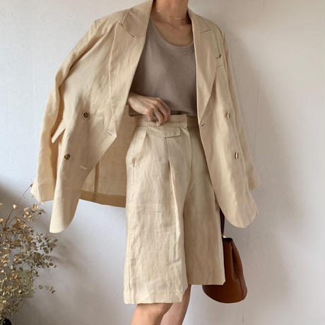 linen half pants (2color) [BT20SS378]