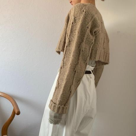 crop cardigan [ TOP20AW596]