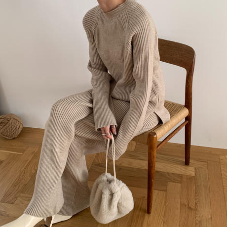 rib knit set up (2color)[SET20AW523]