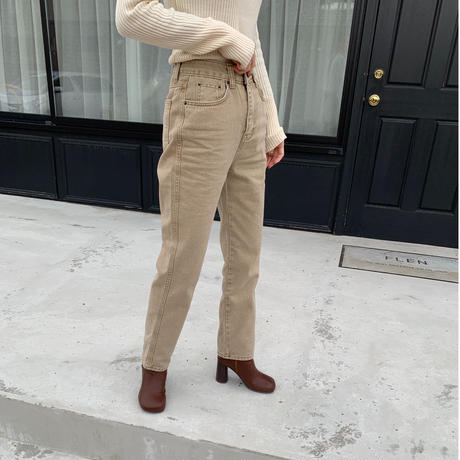 beige color denim pants[BT20AW584]