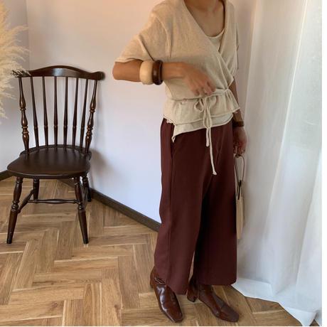 knit cachecoeur ensemble (2color)