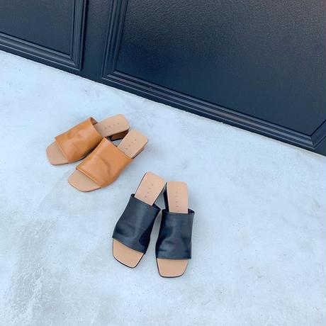 nuance leather sandals (2color)