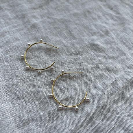 [silver925] pearl point pierce [ACC21SS654]