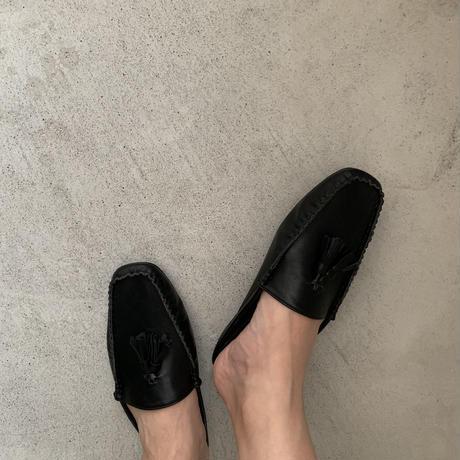 Loafer fringe slipper (4color)