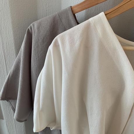 nocollar blouse (2color)[TOP21SS745]