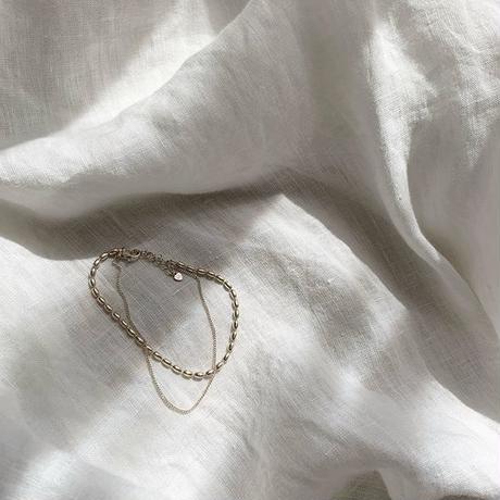 [silver925]layered bracelet