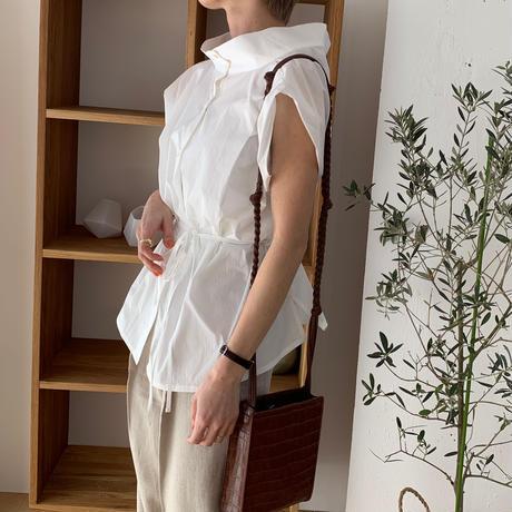 mock neck design blouse [TOP20SS325]
