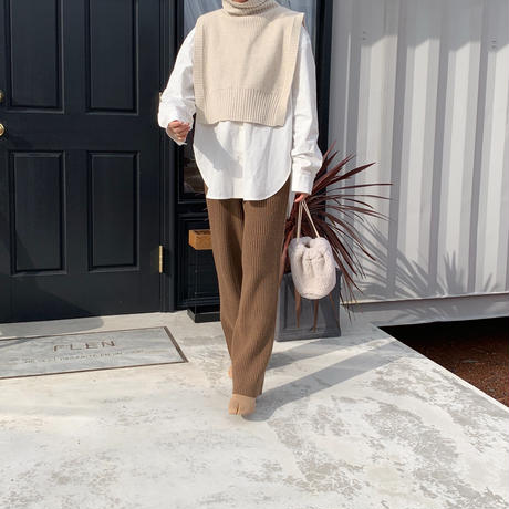 ankle design knit pants (2color) [BT20AW220]