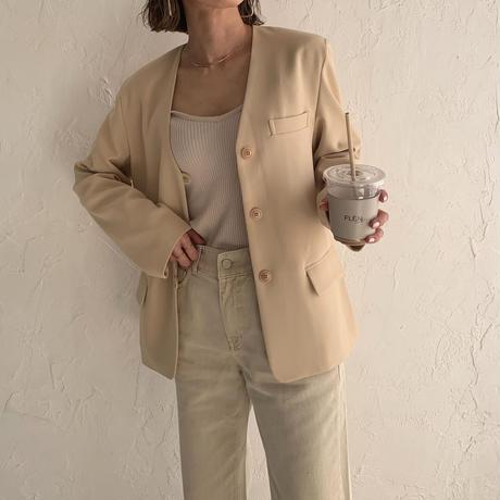 nocollar j loop button jacket (2color)[OU21SS630]