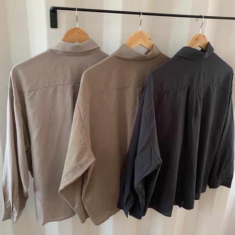 simple setup shirt (3color)[TOP20AW445]