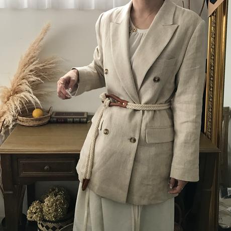 linen double jacket (2color)