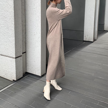 simple wool knit one-piece (2color)[OP20AW526]