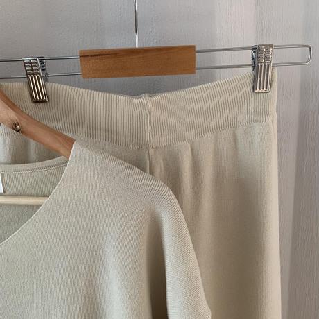 side slit summer knit set up[OP21SS720]
