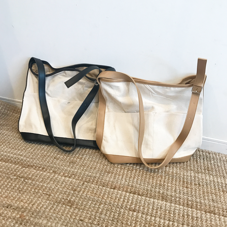 canvas shoulder bag (2color)