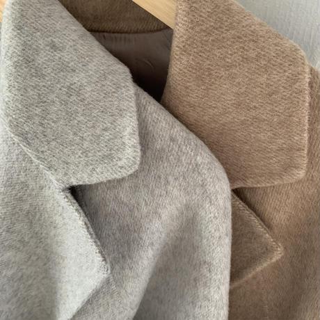 handmade sleeve belt long coat (2color)[OU20AW528]