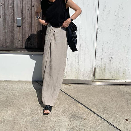 flont twist linen pants (2color)