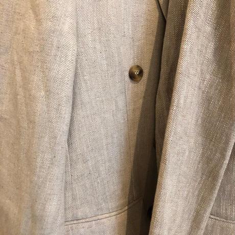linen double jacket (2color) [OU19SS-0032]
