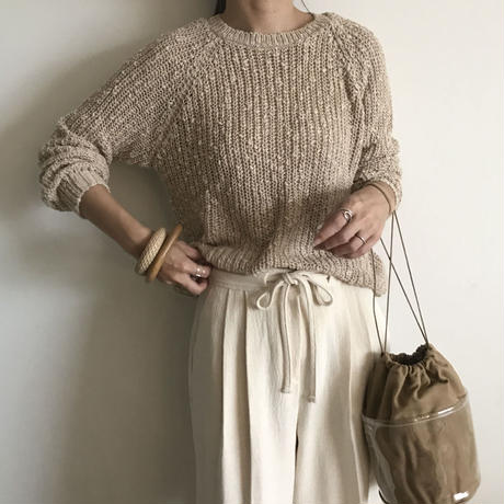 Hand knitted style knit (2color)