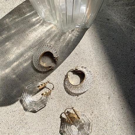 clear chandelier pierce (2type)