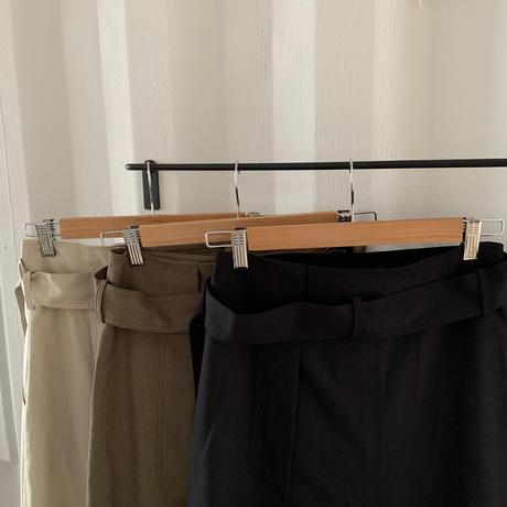 belt design skirt (3color) [BT20AW515]
