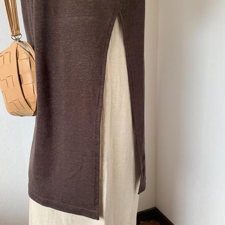 side slit slab long t-shirt (2color)[TOP20SS416]