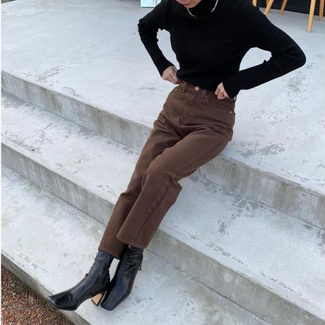 brown denim pants [BT20AW590]