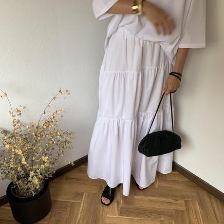 cotton  long skirt [BT20SS373]