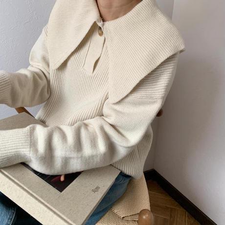 big collar knit[TOP20AW602]