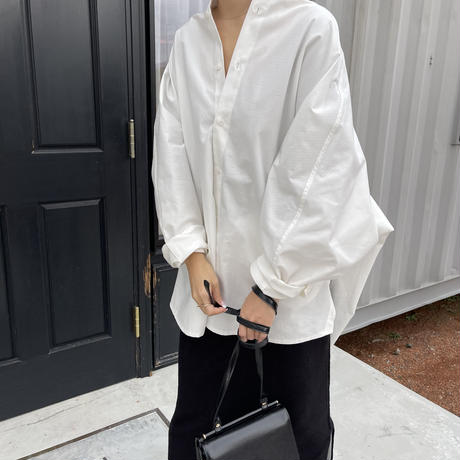 over size dolman sleeve shirt (2color)[TOP20AW583]