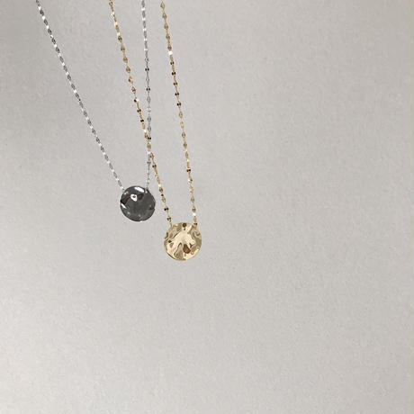 [silver925]metal plate necklace (2color)