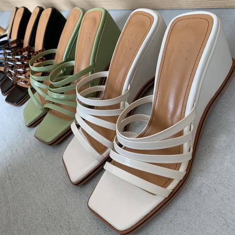 belt wedge sandal (4color) [SHO20SS358]