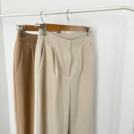 one tuck slacks pants (2olor)[BT21SS672]
