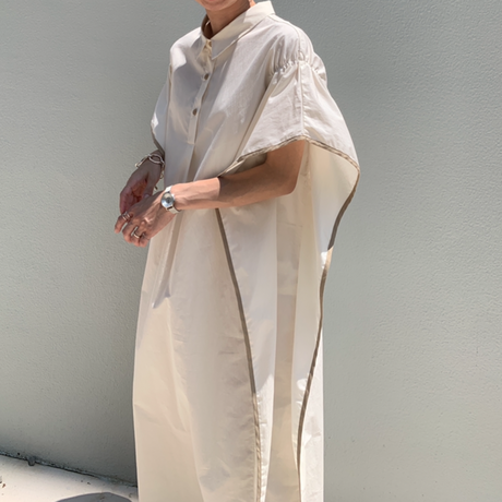 poncho   shirt one-piece (2color)[OP21SS727]