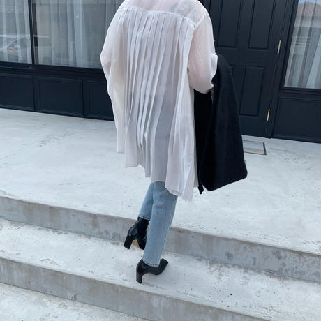 pleats design flare shirt (3color)[TOP20AW502]
