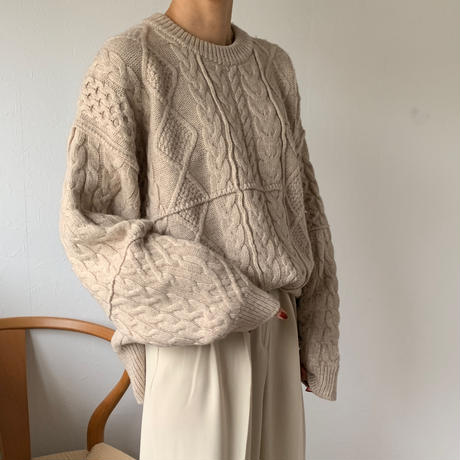 randomcable knit tops (2color)[TOP20AW488]