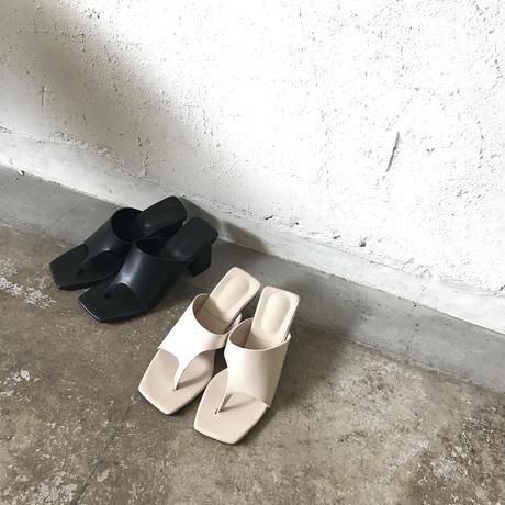 square heel sandals (2color)