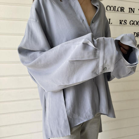 slit  over shirt (2color)[TOP21SS652]