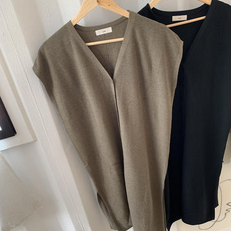 french sleeve knit best (2color) [OP20AW612]