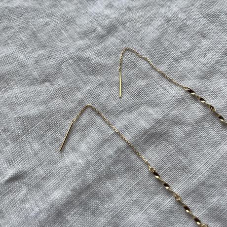 [silver925]wave long pierce[ACC21SS643]