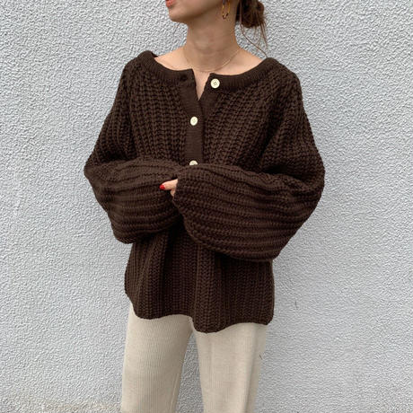 bulky henryneck knit  pullover (3color) [TOP19AW0116]