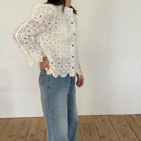 lace knit cardigan (2color)[TOP21SS641]