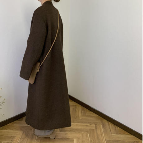 no color long coat (2color) [OU20AW238]