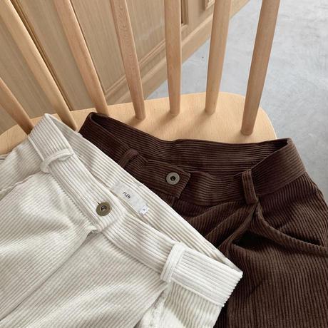 corduroy tuck pants (2color)[BT20AW545]