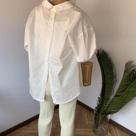 back button shirt (2color) [TOP20SS352]