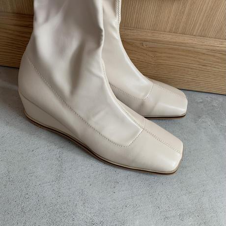 wedgesole squaretoe boots (3color) [SHO20AW513]
