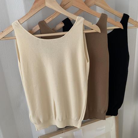 2way knit tank (3color) [21SS-FL-05]