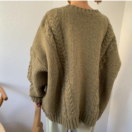 lose cable knit (3color) [ TOP20AW593]