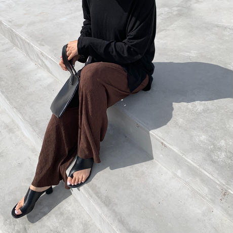 sheer  rib pants (2color)