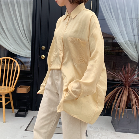 color sheer shirt (4color)[TOP21SS670]