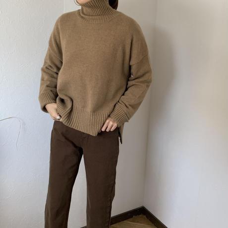high neck slit knit (2color)[TOP20AW571]